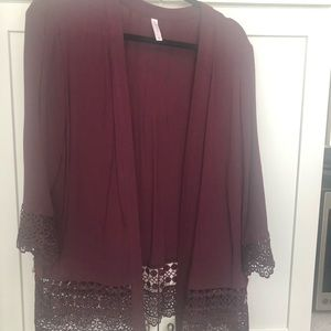 Sweaters - Burgundy top